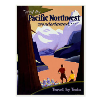 Visit the Pacific Northwest Postcard