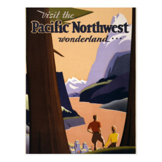 Visit the Pacific Northwest wonderland 1925 Postcard