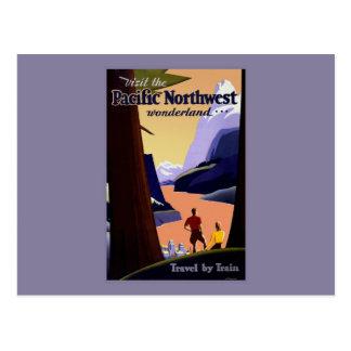 Visit the Pacific Northwest Wonderland Postcard