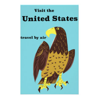 Visit the united States Travel poster Stationery