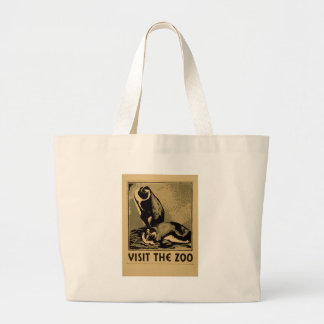 Visit The Zoo Large Tote Bag