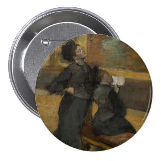 Visit to a Museum by Edgar Degas 3 Inch Round Button