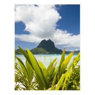Visit to small picnic island in lagoon at Bora Postcard