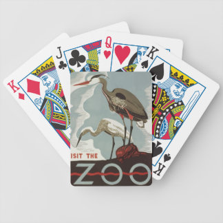 Visit Zoo Vintage Bicycle Playing Cards