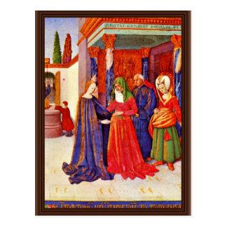 Visitation By Fouquet Jean (Best Quality) Postcard