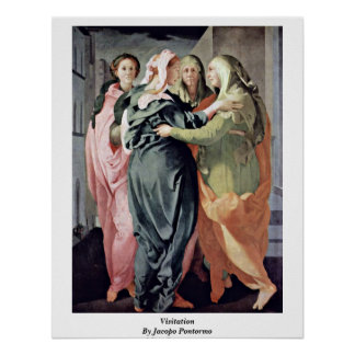 Visitation By Jacopo Pontormo Poster