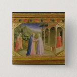 Visitation, from predella Annunciation 2 Inch Square Button
