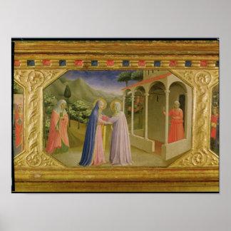 Visitation, from predella Annunciation Poster
