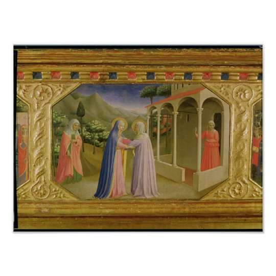 Visitation, from predella Annunciation Poster