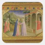 Visitation, from predella Annunciation Square Sticker
