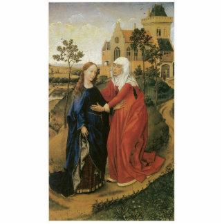 Visitation of Mary - Rogier Van Der Weyden Photo Sculpture Ornament