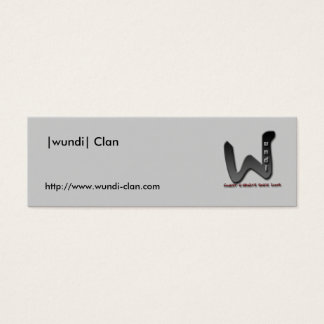 Visitenka, |wundi| clan, http://www.wundi-clan.com mini business card