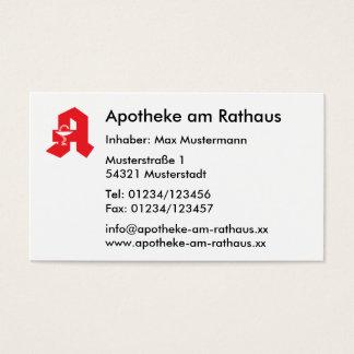 Visitenkarte für Apotheken Business Card