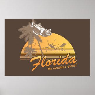 Visitez la Floride, le temps splendide - ouragan Affiches