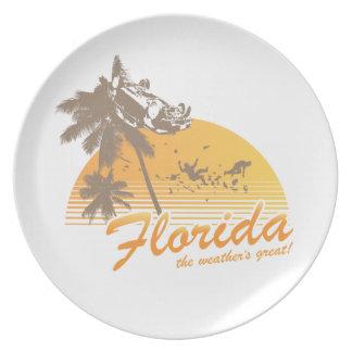 Visitez la Floride, le temps splendide - ouragan Assiette