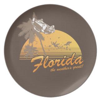 Visitez la Floride le temps splendide - ouragan Assiette Pour Soirée