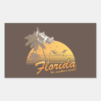 Visitez la Floride, le temps splendide - ouragan Autocollants Rectangulaires