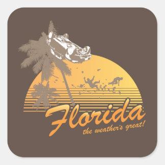 Visitez la Floride, le temps splendide - ouragan Sticker Carré