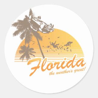 Visitez la Floride le temps splendide - ouragan Autocollant