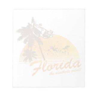 Visitez la Floride, le temps splendide - ouragan Bloc-notes Mémo