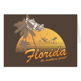 Visitez la Floride, le temps splendide - ouragan Carte De Vœux