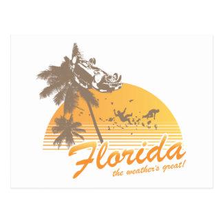 Visitez la Floride, le temps splendide - ouragan Cartes Postales
