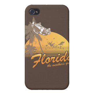 Visitez la Floride, le temps splendide - ouragan Étuis iPhone 4