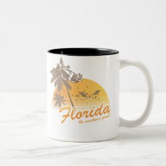 Visitez la Floride, le temps splendide - ouragan Mug Bicolore