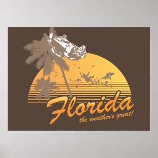 Visitez la Floride, le temps splendide - ouragan Poster