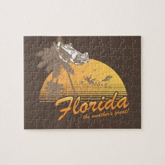 Visitez la Floride, le temps splendide - ouragan Puzzle Avec Photo
