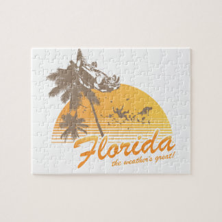 Visitez la Floride, le temps splendide - ouragan Puzzles Avec Photo