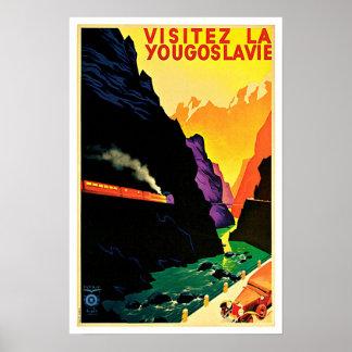 Visitez La Yougoslavie Vintage Travel Poster