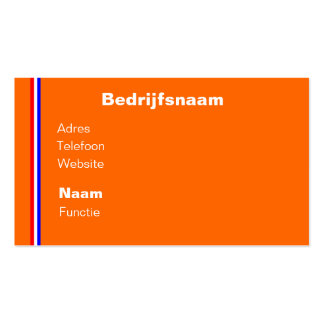 Visiting card orange with rood wit blauw line business card template