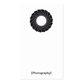 "Visiting card ""Photography "" Pack Of Standard Business Cards"