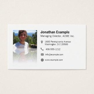 Visiting card with aileron code & elegant mirror