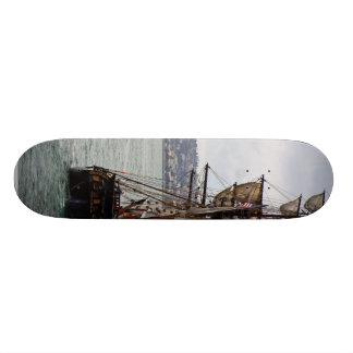 Visiting Ships Skateboard Deck
