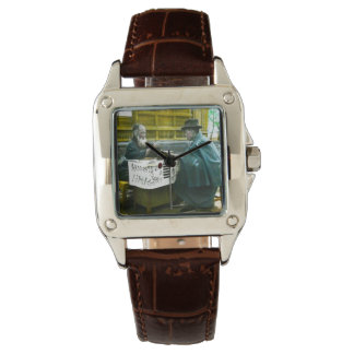Visiting the Roadside Fortune Teller Old Japan Wristwatch