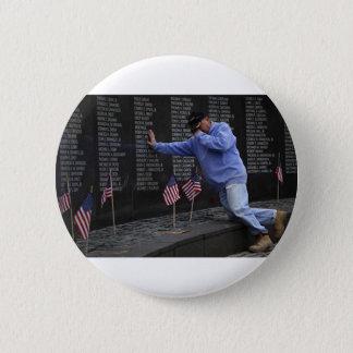 Visiting The Vietnam Memorial Wall, Washington DC. 2 Inch Round Button