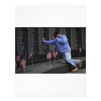 Visiting The Vietnam Memorial Wall, Washington DC. Letterhead