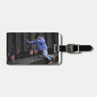 Visiting The Vietnam Memorial Wall, Washington DC. Luggage Tag