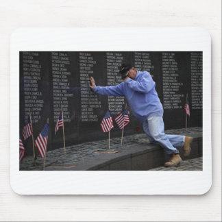 Visiting The Vietnam Memorial Wall, Washington DC. Mouse Pad