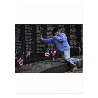 Visiting The Vietnam Memorial Wall, Washington DC. Postcard