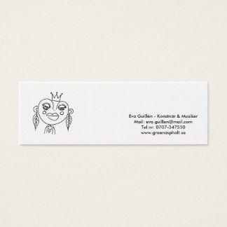 Visitkort Eva Guillén - artist&musicians Mini Business Card