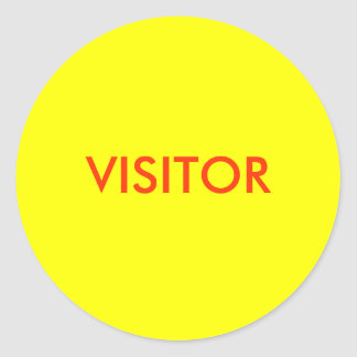 VISITOR CLASSIC ROUND STICKER