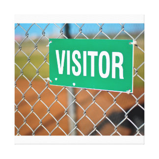 Visitor Sign Canvas Print