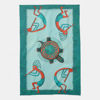 Visitors Anasazi Native Folk Art Kitchen Towel