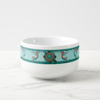 Visitors Anasazi Native Folk Art Soup Bowl With Handle