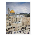 Visitors, Western Wall Plaza & Dome of the Rock Postcard