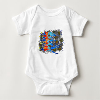 Vislepthonus V1 - abstract scorpion Baby Bodysuit