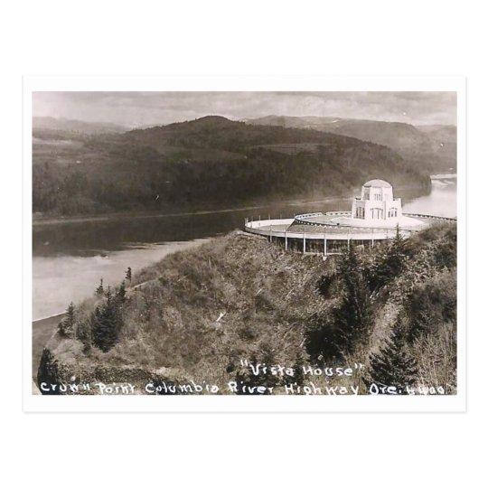 Vista House, Crown Point, Oregon Vintage Postcard